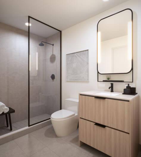 Queen Ashbridge Condos Ensuite Bathroom